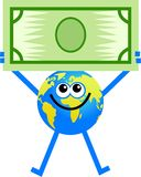 глобус доллара Стоковые Изображения