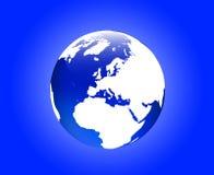 глобус европы Стоковое Фото