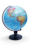 Глобус земли настольного компьютера Стоковое фото RF