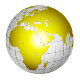 глобус земли 3d изолировал планету Стоковые Фото