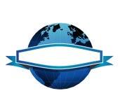 глобус знамени Стоковое фото RF