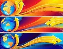 глобус знамени Стоковая Фотография RF