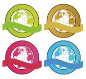 глобус знамен Стоковые Фотографии RF
