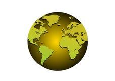 глобус золотистый Стоковое Изображение RF