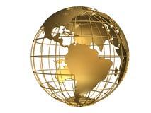 глобус золотистый Стоковое Фото