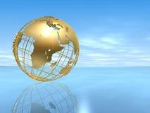 глобус золотистый Стоковая Фотография