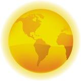 глобус золотистый Стоковые Изображения RF