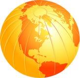 глобус золотистый иллюстрация штока