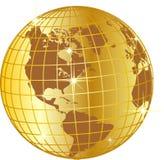 глобус золотистый Стоковая Фотография RF