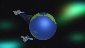 Глобус и спутники стоковое изображение rf