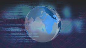 Глобус и цифровая информация видеоматериал