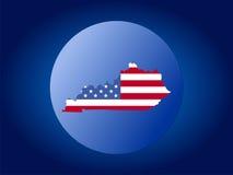 глобус Кентукки флага Стоковая Фотография