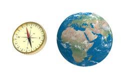 глобус компаса Стоковая Фотография RF