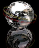 глобус крома 3d Стоковое фото RF