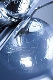 глобус крома Стоковое фото RF