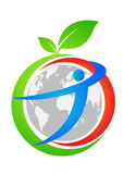 глобус окружающей среды иллюстрация вектора