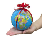 глобус подарка стоковое изображение