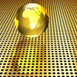 глобус предпосылки золотистый Иллюстрация вектора