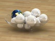 глобус принципиальной схемы Стоковое фото RF