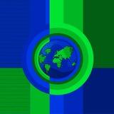 глобус принципиальной схемы Стоковое Изображение