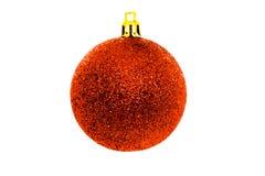 Глобус рождества изолированный на белизне Handmade украшение зимы стоковые изображения rf