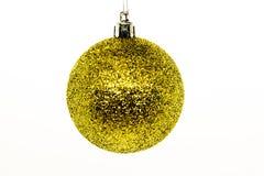 Глобус рождества изолированный на белизне Handmade украшение зимы стоковые фото