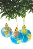 глобус рождества baubles стоковая фотография rf