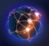 Глобус сети Стоковые Изображения RF