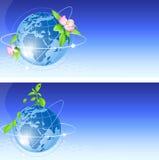 глобус сини предпосылки Иллюстрация штока