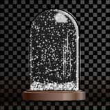 Глобус снега рождества изолированный на прозрачной checkered предпосылке бесплатная иллюстрация