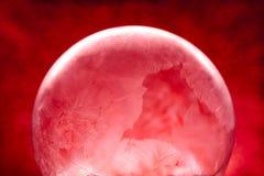 Глобус снега рождества с снежинками Стоковые Изображения
