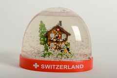 Глобус снега Швейцарии Стоковые Фотографии RF