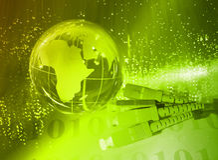 Глобус с высокой технологией стоковое фото rf