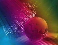 Глобус с высокой технологией стоковая фотография rf