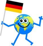 глобус флага иллюстрация штока