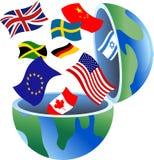 глобус флага Стоковые Фото