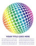 глобус цветастой конструкции цифровой Иллюстрация вектора