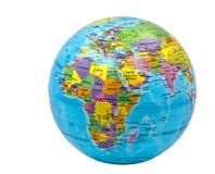 Глобус цвета земли на белой предпосылке Стоковое Изображение RF