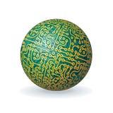 Глобус цифровой технологии Стоковые Фотографии RF