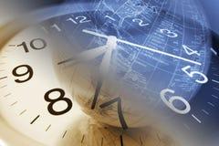глобус часов Стоковые Фотографии RF