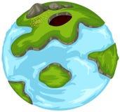 глобус шаржа Стоковые Фотографии RF