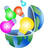 глобус шарика иллюстрация вектора