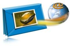 глобус электронной почты принципиальной схемы Стоковые Изображения RF