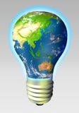 глобус энергии Азии Австралии Стоковая Фотография