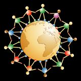 глобус деревянный Стоковая Фотография RF