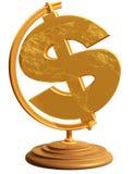 глобус доллара мы Стоковое Изображение