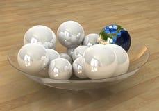 глобус 2 принципиальных схем Стоковая Фотография