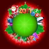 глобус 2011 рождества Иллюстрация вектора