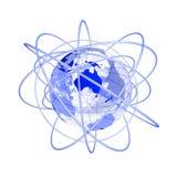 глобус 3d Австралии голубой будущий Стоковые Изображения