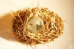 глобус 6 кристаллов Стоковая Фотография